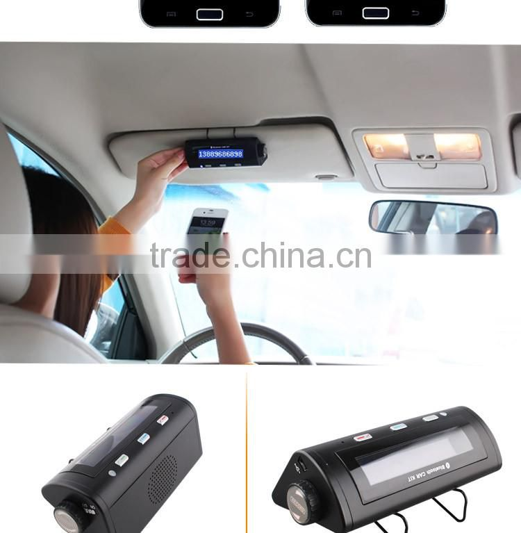 Long standby bluetooth hangdsfree car kit with LCD display