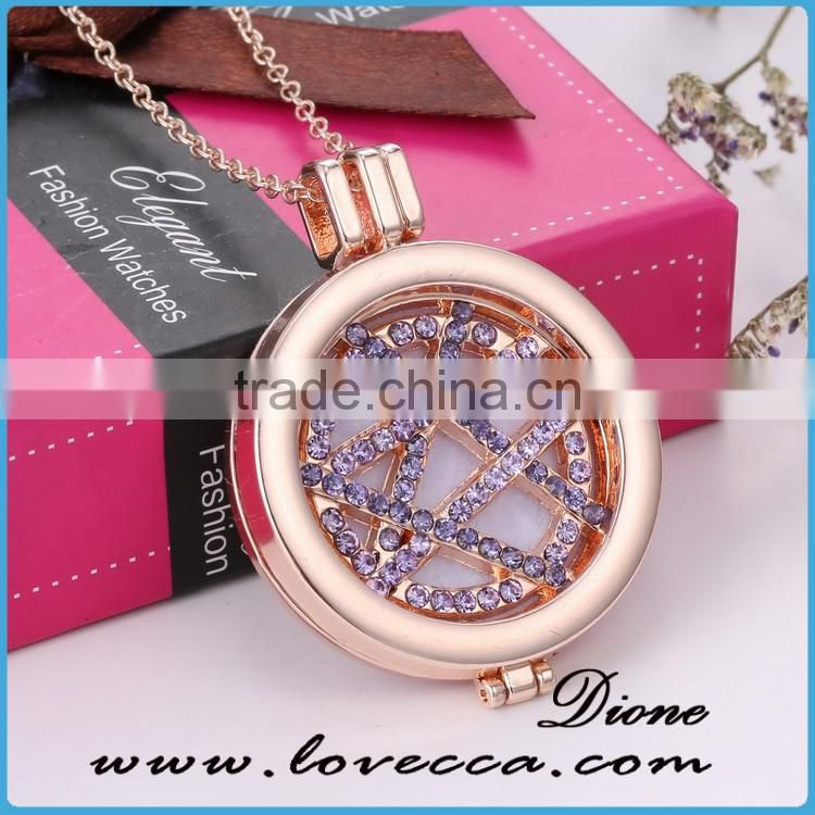 2017 hot new products gold locket designs diamond diffuser perfume locket