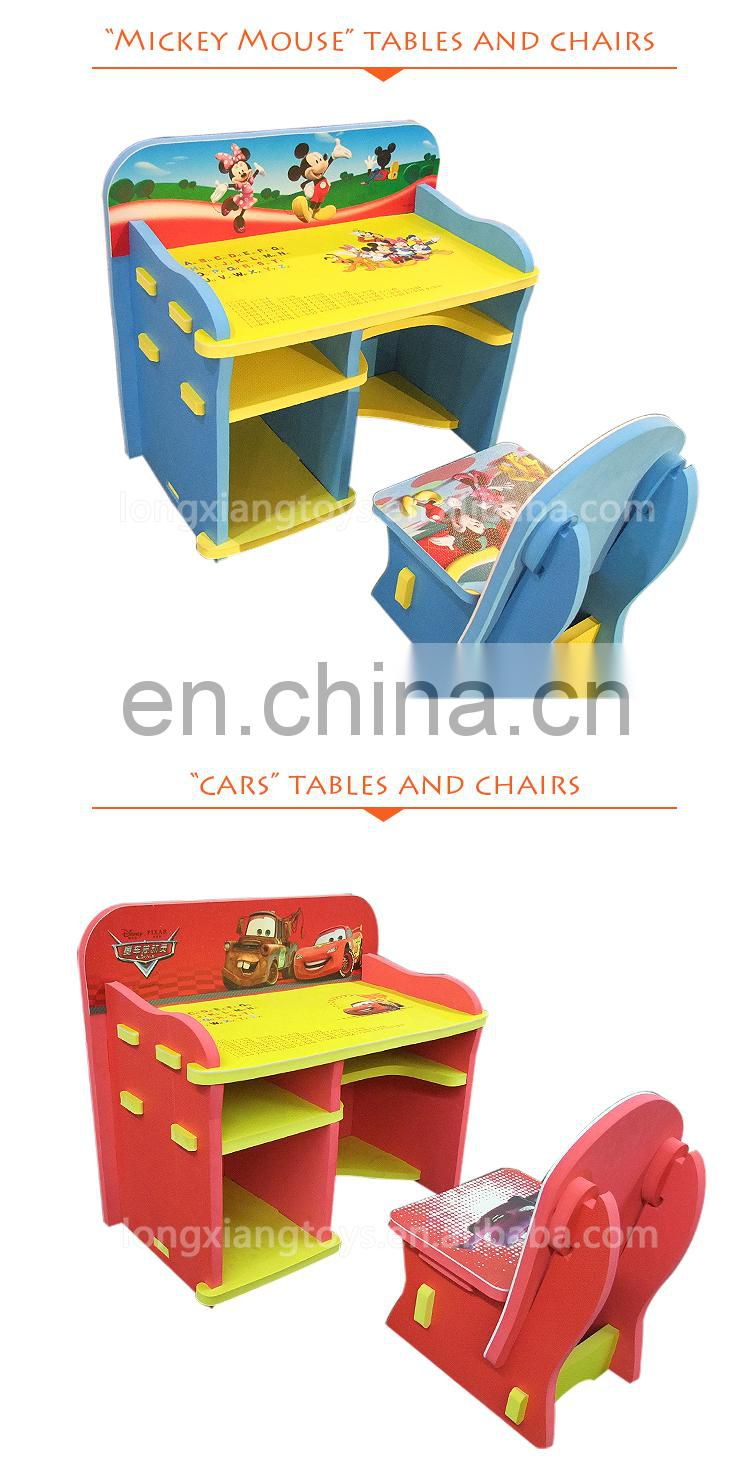 Latest Design Eva Foam Children Kids Study Table And Chair Set