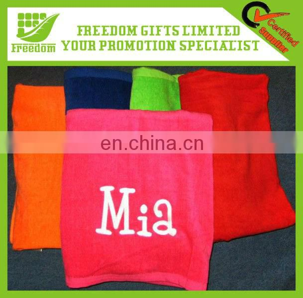 Advertising Logo 100% Cotton Promotion Beach Towel