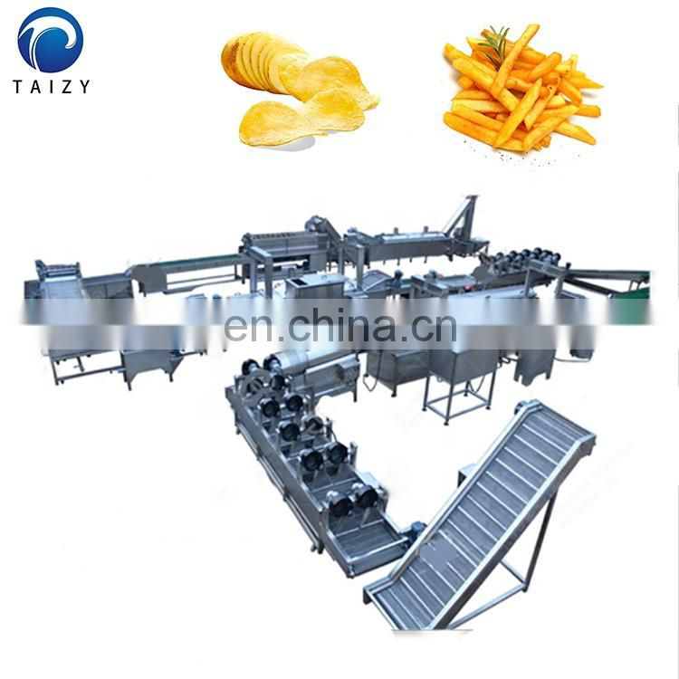 Automatic 500kg/h Stainless Steel 304 Frozen French Fries Production line Image
