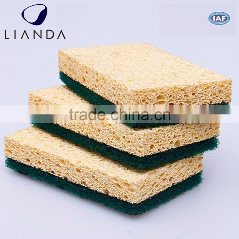 Kitchen Helper Biodegradable Fast Cleaning Natural Fiber Cellulose Sponge Scourer