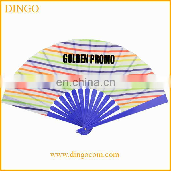 Custom Promotional PP Plastic Summer Portable Hand Fan