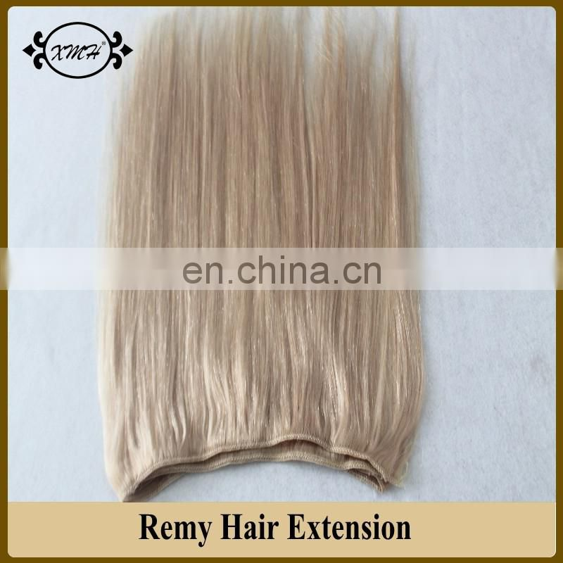 XMH Top Quality Human Remy Hair Extension 6A Indian Remy Hair Blonde Cheap Wholesale Human Hair Weave