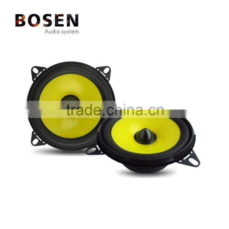 4inch 12V 24V yellow mini car speaker