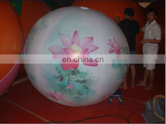 Inflatable Basic Black Balloon with Printing