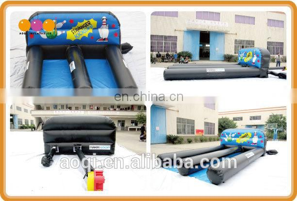 Commercial use inflatable bowling lane game for adults for sale