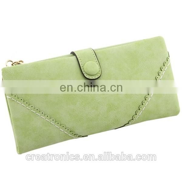 CR Over 11 years experience wholesale cheap women purses scrub surface money bag coffee color fashion wallet