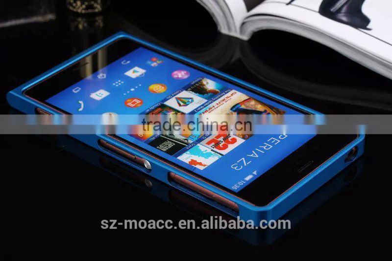 High quality Aluminum Case for Sony Z3 with bumper
