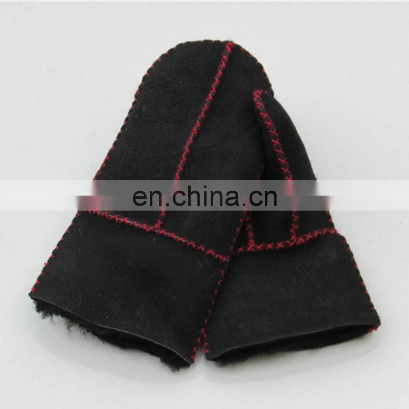 Men women winter mittens sheep fur mittens for skiing/motorcycle