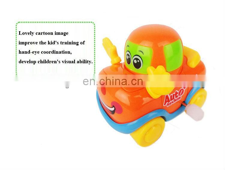 Funny cartoon wind up plastic car toys