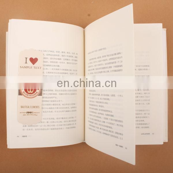 Promotional item china paper bookmarks