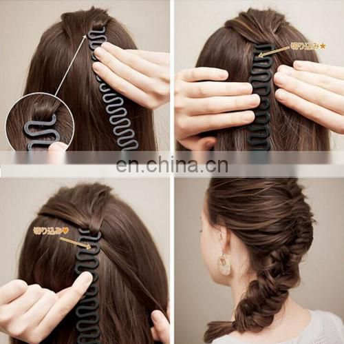 Hair curler French Hair Roller clip With Hook Magic Twist Styling Braiding Tool Fishbone braider tools
