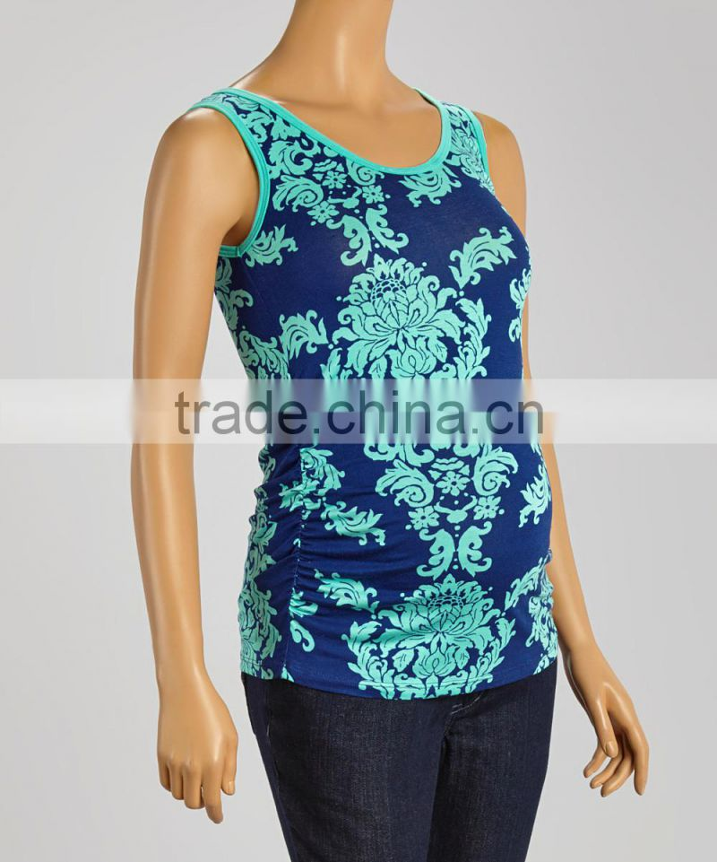 Best Sellers Maternity Tops With Jade And Royal Damask Maternity Tank Tees Women Clothes WT80817-32
