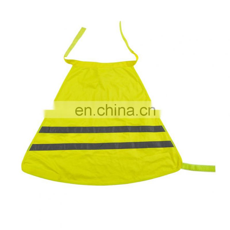 High visibility pet safety vest in reflective safety clothing