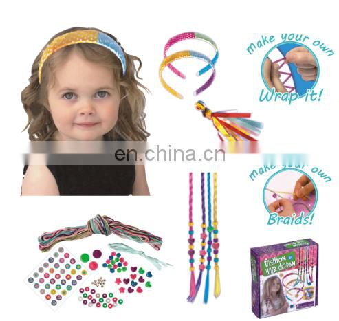 2015 fashion pizza box set---DIY weaving headbands and bracelet set