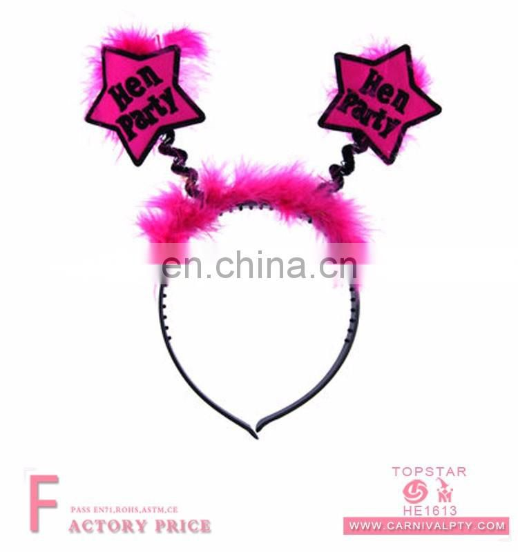 Eyes fur funny ponytail headband wholesale headband human hair wigs hairbands factory price