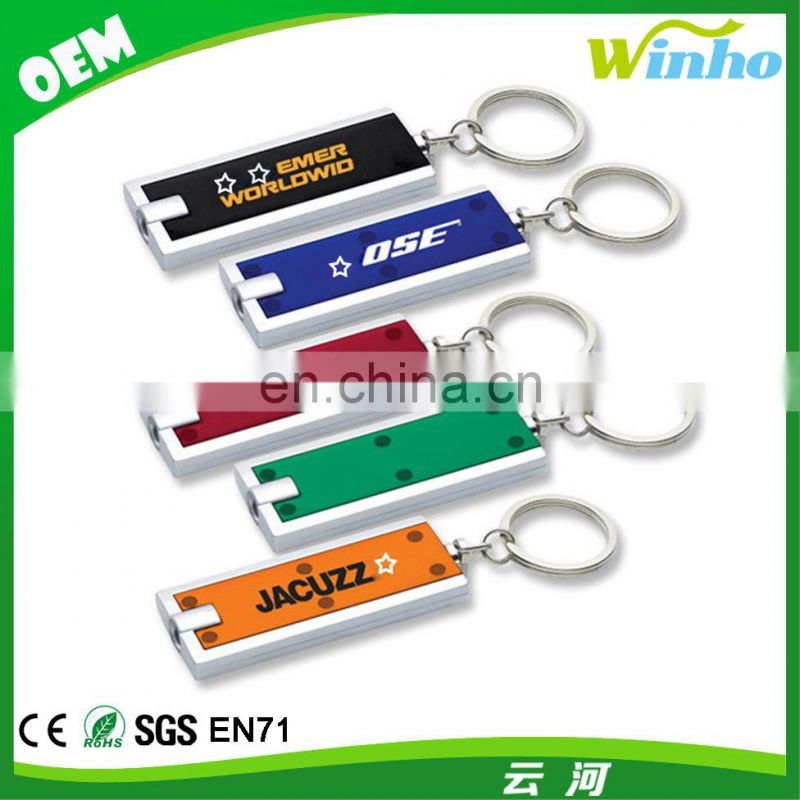 Winho Slim rectangular flash light with swivel key chain