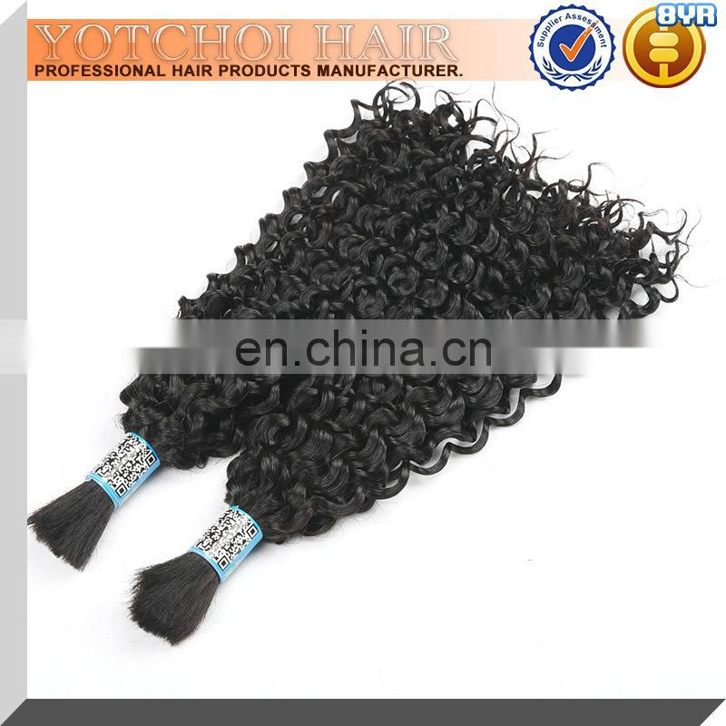 Unprocessed Wholesale Virgin Cambodian Hair Bulk ,Virgin Wavy Human Hair