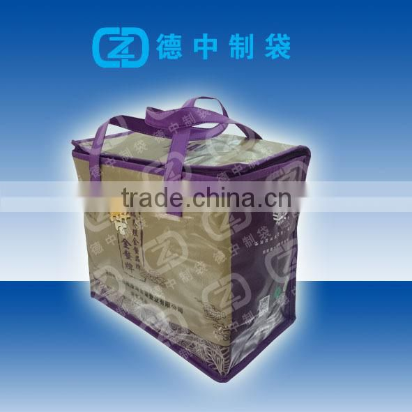 Full color printed Non woven cooler bag for frozen sea foods packaging
