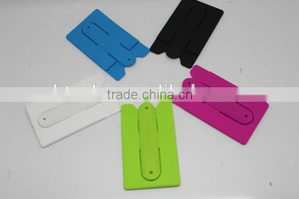 Silicon Multi-function Mobile Phone & Name Card Holder/Mobile Phone Holder with Card Slot