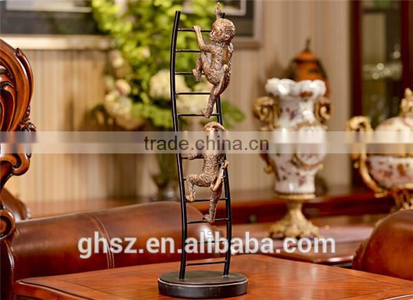 christmas decoration plastic figure table decor polyresin monkey sculpture