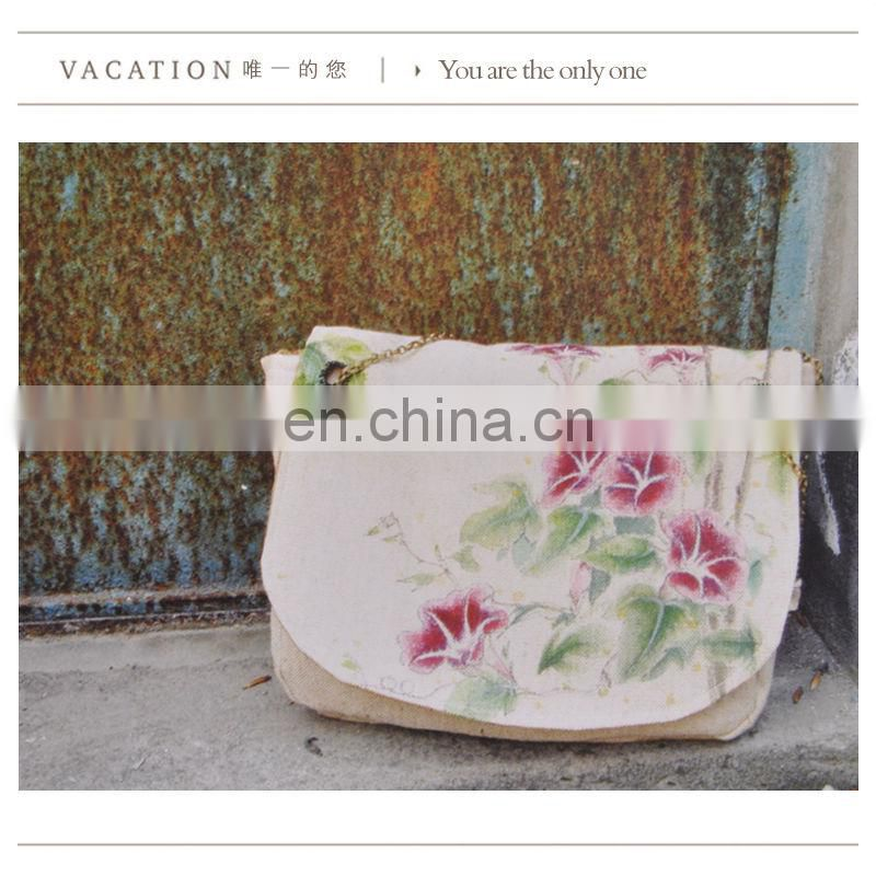 Guangzhou supplier OEM print canvas handbag