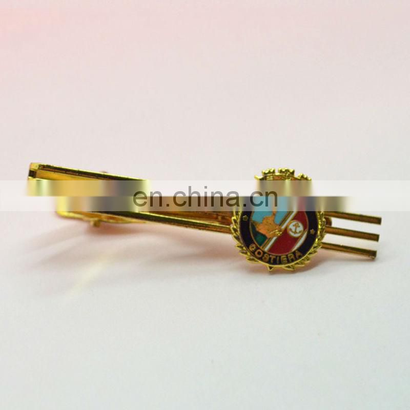 Antique brass plated 3D metal unique tie clips