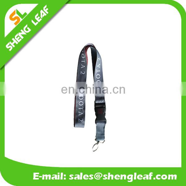 Light color cheap custom woven lanyards