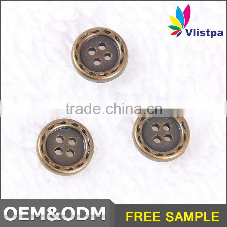 High Quality button manufacturer fashion OEM/ODM oil drip 4 hole fancy shirt button