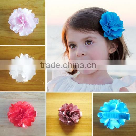 fancy rose flower hair clip for little girls