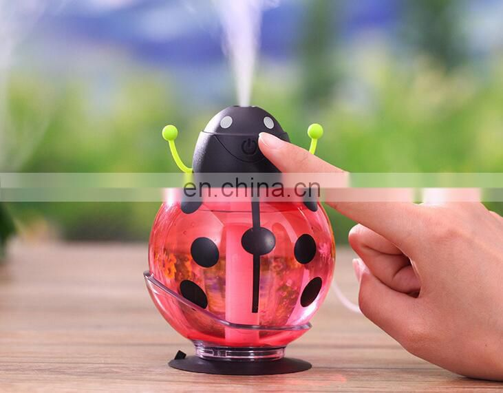 creative beetle humidifier with led lights