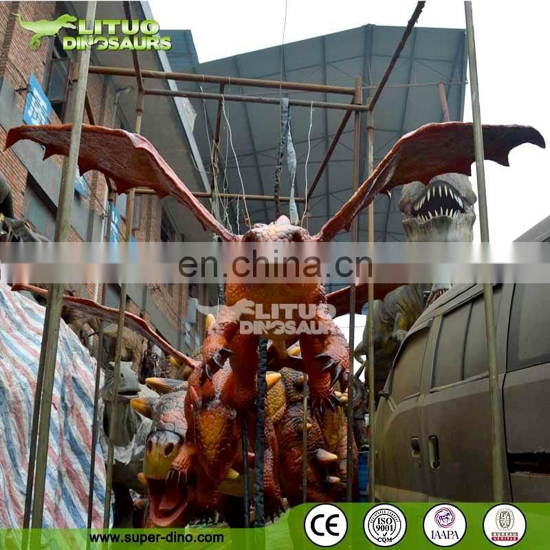 Theme Park Flying Robotic Dragon Model