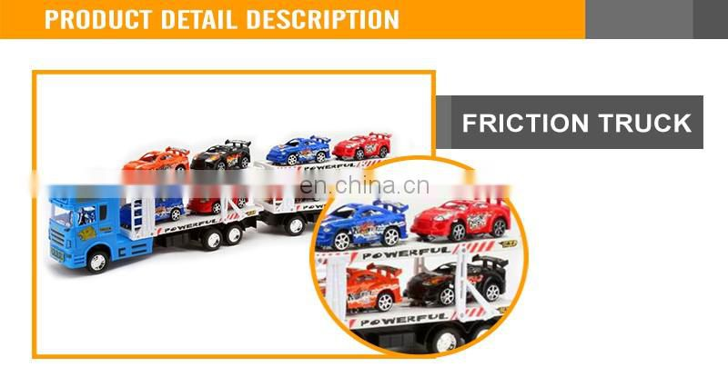 2016 Hot Sales Cheap Friction Plastic Toys Truck With Small Cars