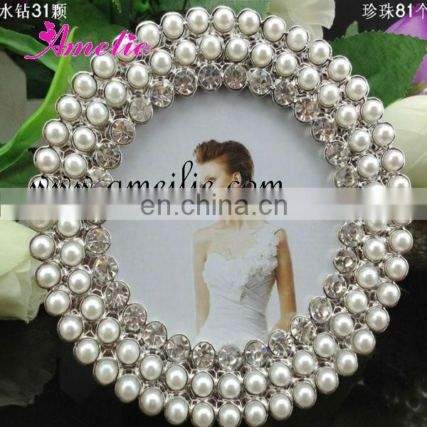 A000 9 Piece Metal Pearl Home Decor Family Photo Frame Set