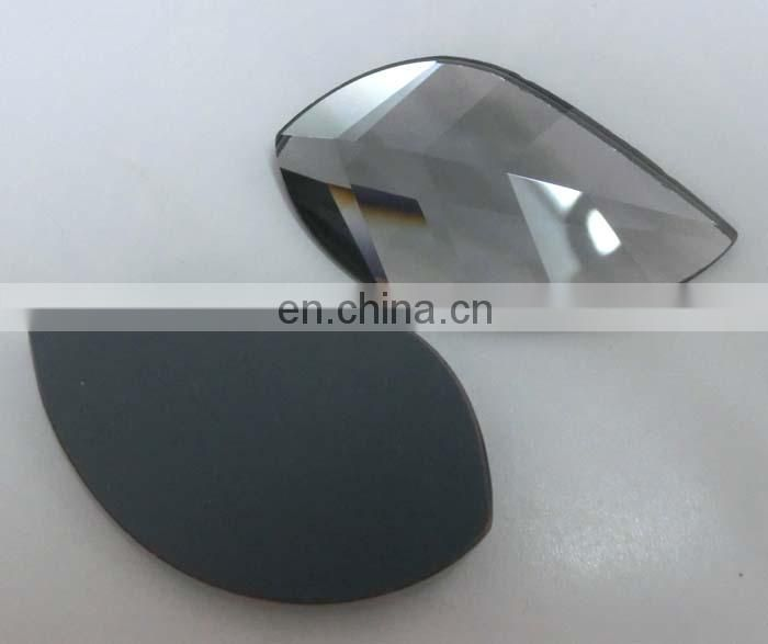 Classical Faceted Flat Back Leaf Glass Gems