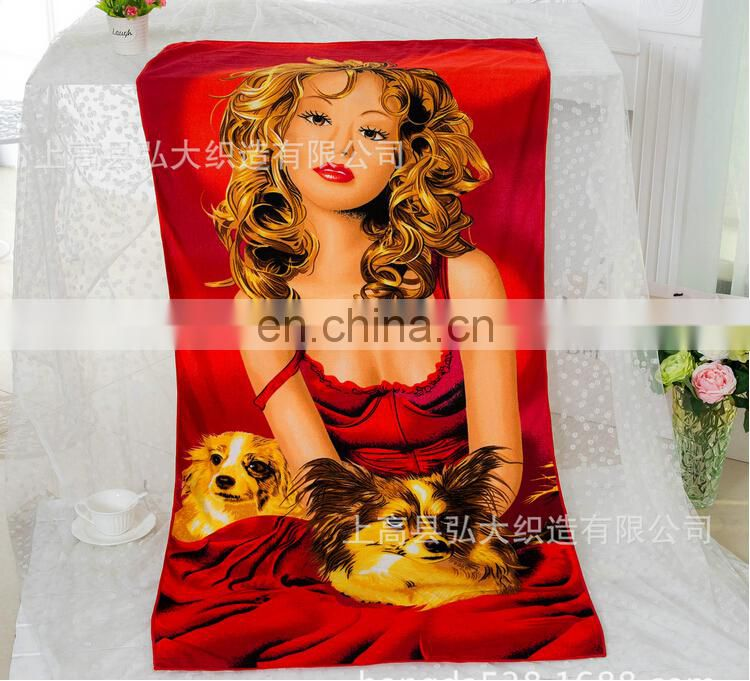 New design Low-Priced Printed Microfiber Beach Towel