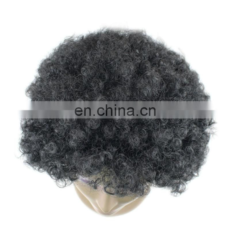 Alibaba express High quality african braided wig natural color short afro curl wave hair wig for black women