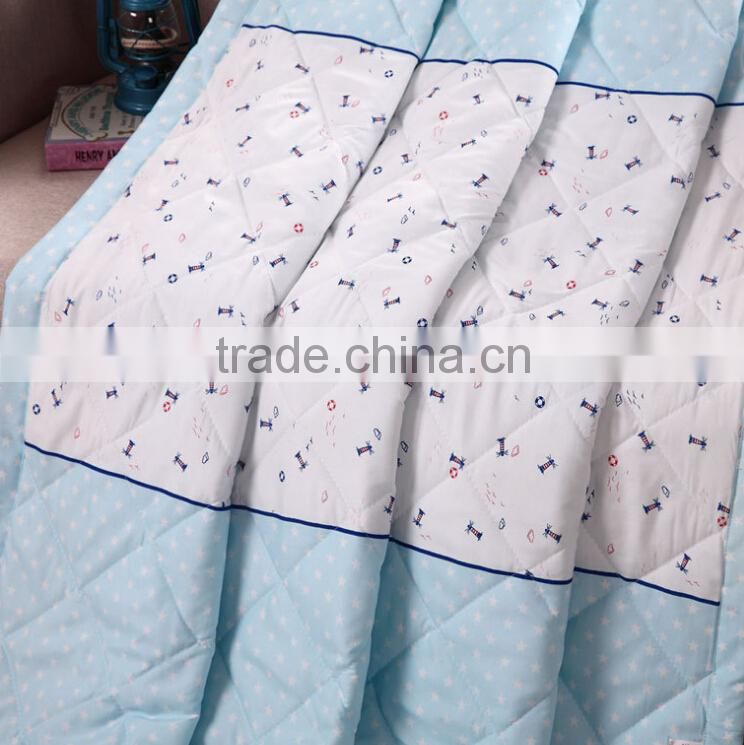 Hot-selling brushed microfiber polyester reversible cashmere silk fitted quilt / comforter / duvet