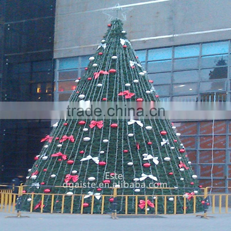 Home and outdoor garden edging decoration artificial large 3D LED Christmas Tree