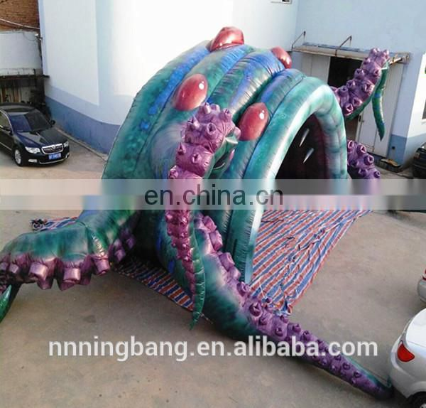 Customized new product inflatable octopus tunnel for holiday party used