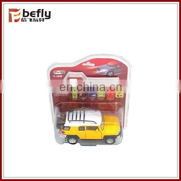 Electric diecast metal model car with light and music
