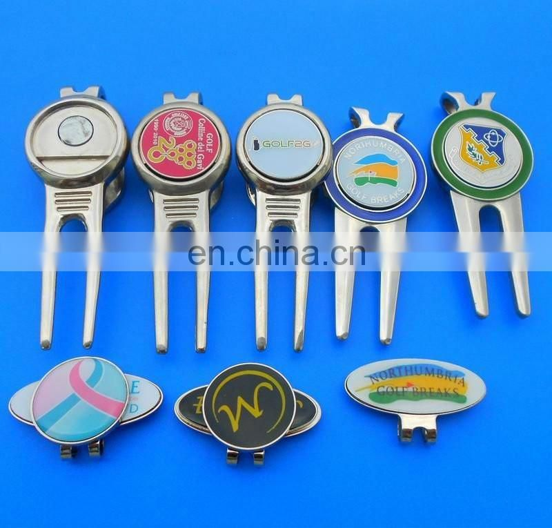 Company Logo Ball Marker, Hat Clip And Divot Tool For Golf Club