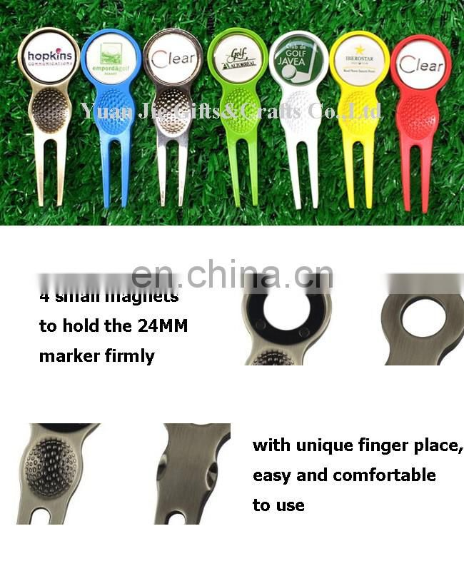 Free design golf magnetic hat clips / cap clips ball markers with custom design