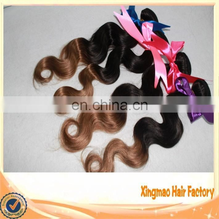 Body Wave Brazilian Remy Human Hair Extension Ombre Color Hair T1/8 Grade 5A Top Quality Brazilian Human Hair
