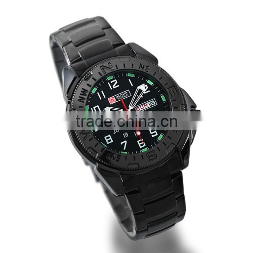 2014 Men's Leather Strap Japanese Movement Military Watches for Men MR004