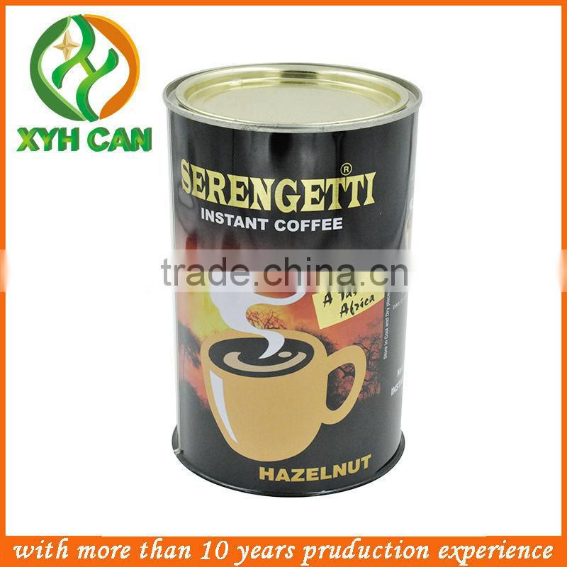 High quality wholesale CMYK printing round shape blank box for packating coffee tin can,tea tin box