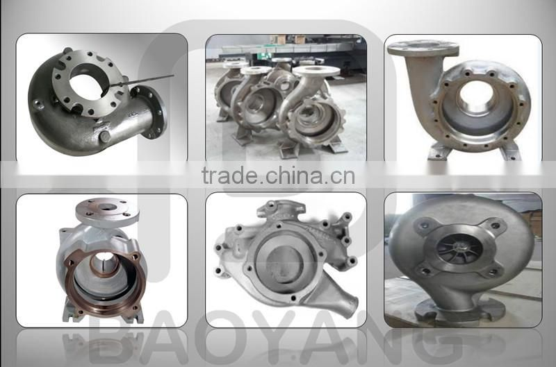 ISO9001 sand casting cast iron hydraulic water pump casing