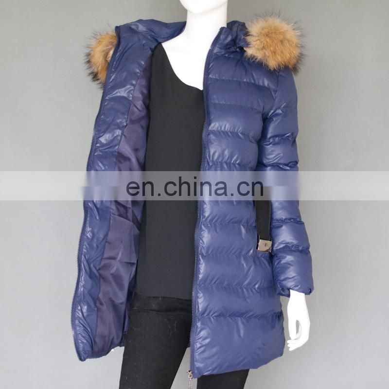 Top grade lady winter jackets 2017 fashion down cotton coats jackets with fur