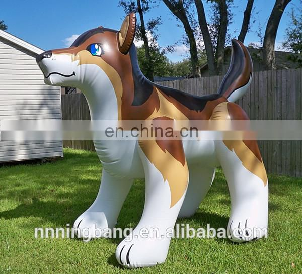 Customized PVC Inflatable Wolf /Inflatable Animal Toys For Advertising
